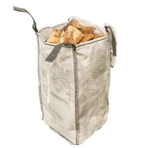 barrow bag of logs