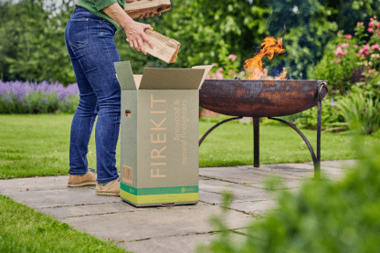 Box of logs for firepit use